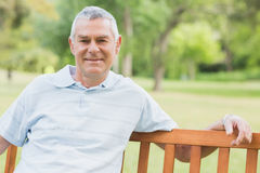Portrait of a senior man at park Royalty Free Stock Image