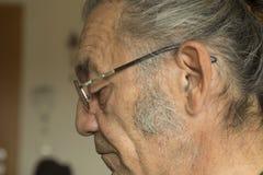 Portrait of the  senior man reading Royalty Free Stock Photo