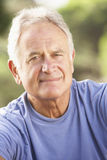 Portrait Of Senior Man Relaxing In Countryside Royalty Free Stock Image