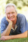 Portrait Of Senior Man Relaxing Outdoors Stock Images