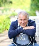 Portrait of senior man smiling Royalty Free Stock Photos
