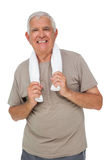 Portrait of a senior man with towel Stock Photography
