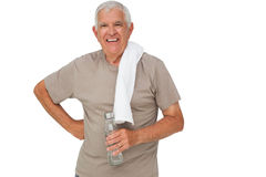 Portrait of a senior man with water bottle Royalty Free Stock Photography
