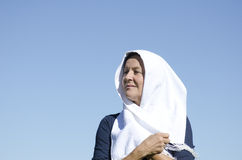 Portrait senior muslim woman Royalty Free Stock Photos