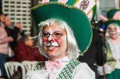 TORREVIEJA, SPAIN,  FEBRUARY 11,2018: Carnival groups and costum Stock Image