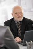 Portrait of senior professional stock images