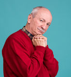 Portrait of a senior smiling man Royalty Free Stock Photos