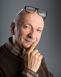Portrait of a senior smiling man Royalty Free Stock Image