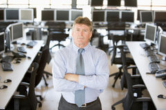 Portrait Of Senior Stock Trader Royalty Free Stock Image