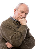 Portrait of a senior thoughtful man Stock Image
