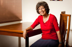 Portrait of a senior woman. Attractive retired Jewish lady posing for a simple portrait royalty free stock photos