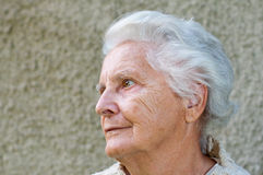 Portrait of a Senior Woman Stock Photography