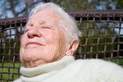 Portrait of senior woman Stock Photography