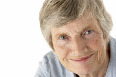 Portrait of senior woman Stock Photos