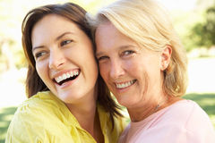 Portrait Of Senior Woman With Adult Daughter royalty free stock photos