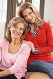 Portrait Of Senior Woman With Adult Daughter Stock Photography