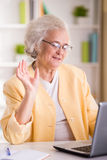 Portrait of Senior woman royalty free stock images