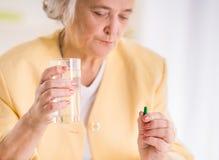 Portrait of Senior woman Stock Photos