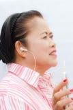 Portrait senior woman. Stock Images