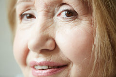 Portrait of senior woman with deep eyes Stock Image