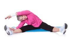 Portrait of senior woman exercising Royalty Free Stock Photo