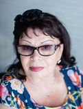 Portrait of senior woman with eyeglasses Royalty Free Stock Images