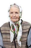 Portrait of a senior woman in headscarf Royalty Free Stock Photos