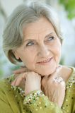 Portrait of a senior woman. At home Royalty Free Stock Images