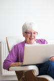 Portrait of a senior woman at home Royalty Free Stock Photography