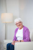 Portrait of a senior woman at home Stock Image