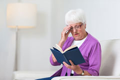Portrait of a senior woman at home Royalty Free Stock Image