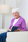 Portrait of a senior woman at home Royalty Free Stock Photos