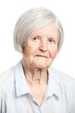 Portrait of a senior woman looking at the camera Royalty Free Stock Photography