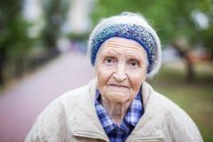 Portrait of senior woman looking at camera royalty free stock photos