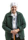 Portrait of senior woman looking at the camera Stock Photos