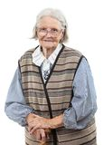 Portrait of senior woman looking at the camera Royalty Free Stock Image