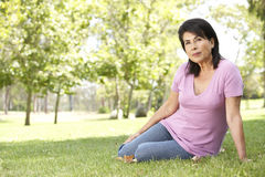 Portrait Of Senior Woman In Park Stock Photos
