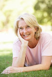 Portrait Of Senior Woman In Park Royalty Free Stock Image