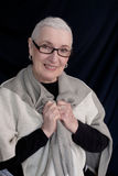 Portrait of a Senior Woman with Shawl Royalty Free Stock Images