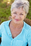Portrait of senior woman smiling Royalty Free Stock Photography
