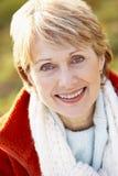 Portrait Of Senior Woman Smiling Stock Images