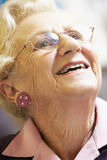 Portrait Of Senior Woman Smiling Happily Stock Images