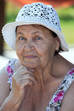Portrait of senior woman at summer Royalty Free Stock Photo