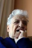 Senior woman thinking Royalty Free Stock Image