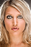 Portrait Of A Sensual Blond Woman. Front Closeup Portrait Of A Sensual Blond Woman Royalty Free Stock Photo