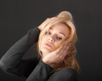 Portrait of a sensual blonde Stock Images