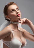 Portrait of a sensual bride Royalty Free Stock Photography