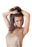 Portrait of the sensual brunette Royalty Free Stock Photo