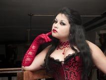 Portrait of a sensual cabaret woman Stock Image