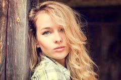 Portrait of a Sensual Fashion Girl Royalty Free Stock Photos